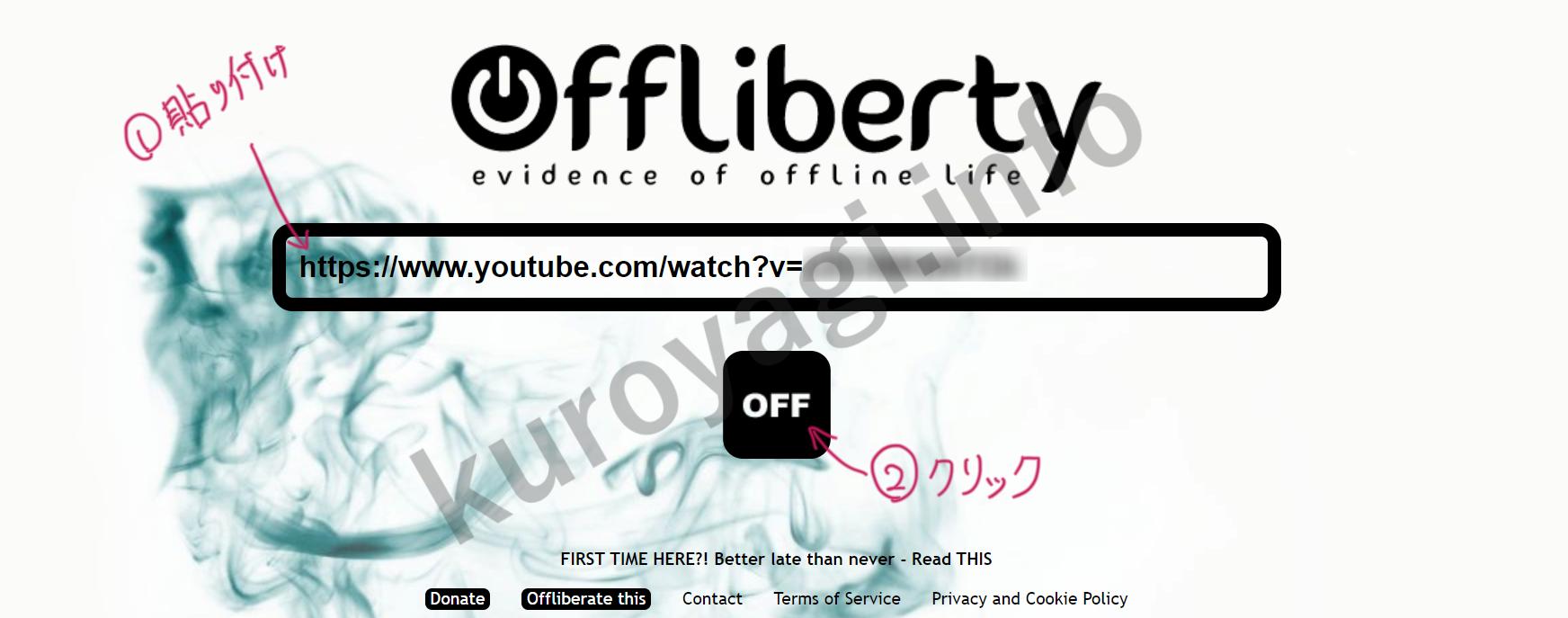 できない Offliberty ダウンロード